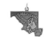 Sterling Silver Maryland State Charm