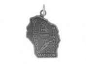 Sterling Silver Wisconsin State Charm