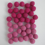 Felted Wool Bead 40 Piece Colour Packs- Pink & Magenta