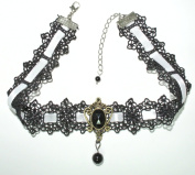 Retro Vintage Gothic Goth Lolita Adjustable Ribbons Lace Necklace Choker