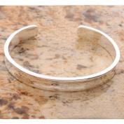 Charming 625 Sterling Silver Wide Open Bangle Bracelet 2