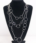 premier designs Jewellery Round and Round Silver Plated Necklace RV$39