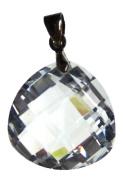 Bead Collection 41271 Cubic Zirconia Crystal Teardrop Pendant, 20mm