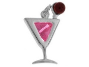 Sterling Silver and Cubic Zirconia Cosmopolitan Charm
