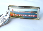 "Solar Powered Key Holder-Key Ring, Blinking Flash LCD ""Nicole"" Message With Attractive ""San Francisco Golden Gate Bridge"" Designs. No Battery Needed,Elegant ,Gorgeous Fashion Key Ring, 2.5cm W x 5.7cm L , Conveniently Hand Held ,The Most Perfect Gifts  .."