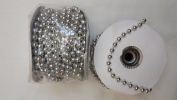 6mm Faux Pearl Plastic Beads on a String Craft Roll - Silver, Total 2 Rolls