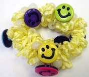 The Original Solaractive® UV Colour Changing Scrunchy! Yellow with Happy Faces!
