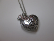 """Initially Hers """"B"""" Photo Locket Necklace"""