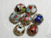 50pcs New 10mm Handmade Mix Round Cloisonne Beads - CLSN10