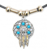 DreamCatcher Necklace with Tirquoise Beads