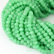 """1 Strand Green Chalcedony Micro Faceted Rondel 3-4mm 14"""" Length Aaamazing Quality 100 Percent Natural.(rlgc-70002)GemMartUsa Gemstone"""