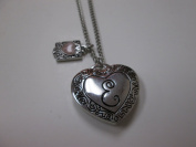"""Initially Hers """"E"""" Photo Locket Necklace"""