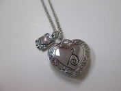 """Initially Hers """"S"""" Photo Locket Necklace"""