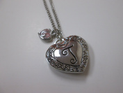 """Initially Hers """"T"""" Photo Locket Necklace"""