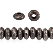 Black Gold Plated Copper Brushed Disc Beads Approx. 4mm Approx. 8 inch