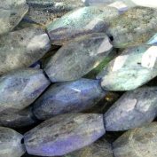 8mm Labradorite Straight Drill Faceted Marquise Beads, 14 inch