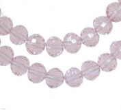 Pink Crystal Round Beads Strand 8mm 16""