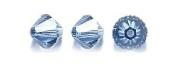 . Elements 5328 Xilion Bicone Diamond Beads, Transparent, Denim Blue, 6-mm, 24/Pack