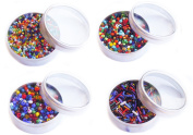 Over 6,000 beads! Glass Seed Bead Beading Kit Packed in Metal Cans Assorted bead sizes and colour mix.