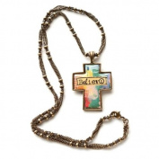 Kelly Rae Roberts Believe Cross Necklace - Unique Jewellery Necklace Earrings 102193KRR