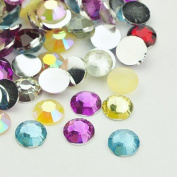3800 pc Resin Cabochons, maybe Including Some Matte Individuals, Faceted, Flat Round, Mixed Colour, 6x2mm,