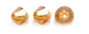 . Elements 5328 Xilion Bicone Diamond Beads, Transparent, Topaz, 6-mm, 24/Pack