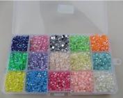 4mm 15000pcs Mix Colour crystal candy stone acrylic beads Beautiful decoration and DIY nail art