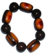 Brown Marble Beaded Charm Bracelet