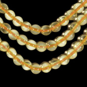 Yellow Citrine 6mm Smooth Beads Genuine Strand Round 15.75""