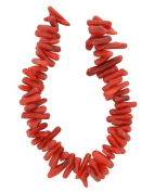 Tennessee Crafts 1308 Coral Red Bamboo Coral Long Branch Beads