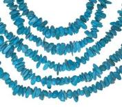 "Turquoise ~4mm Nevada Mine Mini Chip Nugget Beads Strand Genuine 15.5"""