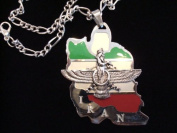 Iran Map Flag Farvahar Necklace Iranian Persian Design Iran Persia Art Farohar Persia Pendent Gift Stainless Steel FREE Chain As A Gift