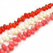 5*9mm 285pcs Mix Colour Water Drop Shape Corallite Beads Crafts Bead Diy Findings Hc232