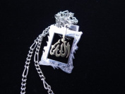 Allah Two Tone Gold Silver Necklace Islamic Koranic Gift Islam Muslim God Arabic Alah