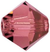 Mode Beads MC302-6/90095 Preciosa Crystal Bicones, 2 Gross Package, Light Burgundy