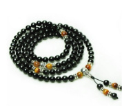 The Art of CureTM (70cm ) Healing Jewellery & Mala meditation beads (108 beads on a strand) Onyx & Tigers Eye