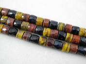 Tiger Eye Natural Gemstone Multi-colour Faceted Heshi Rondelle Shape 8x10mm 48pcs 15.5''per Strand Jewellery Making Beads