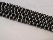 Black Onyx with One-line Rhinestone 10mm Round 15.5'' Strand Beads Gemstone 39pcs