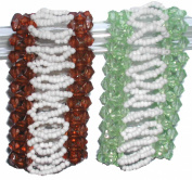 Colourful Beaded Three Strands Bracelets