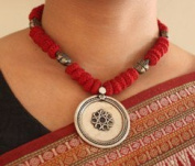 Red Cotton Beads Necklace