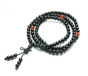 The Art of CureTM (70cm ) Healing Jewellery & Mala meditation beads (108 beads on a strand) Obsidian