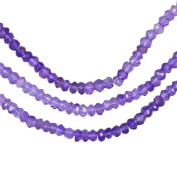 """Shaded Amethyst Micro Faceted Rondelle Genuine Natural Beads Strand ~3.3mm 13"""""""