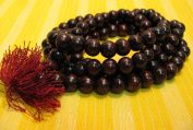 8mm 108 Rosewood Beads Tibetan Buddhist Prayer Meditation Om Mala /w Gift Pouch
