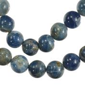 Apatite 10mm Blue Green Matrix Round Beads Strand 15 Inch