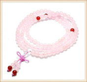 The Art of CureTM (70cm ) Healing Jewellery & Mala meditation beads (108 beads on a strand) Pink Rose Quartz