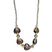 "Lova Jewellery ""Elegant Hearts"" Hand-Blown Venetian Murano Glass Necklace"