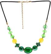 "Lova Jewellery ""Emerald Paradise"" Hand-blown Venetian Murano Glass Necklace"