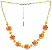 "Lova Jewellery ""Golden Sand"" Hand-blown Venetian Murano Glass Necklace"