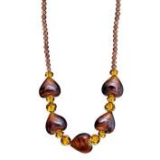 "Lova Jewellery ""Hearts of Glamour"" Hand-Blown Venetian Murano Glass Necklace"