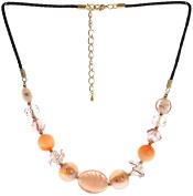 "Lova Jewellery ""Ripe Peach"" Hand-blown Venetian Murano Glass Necklace"